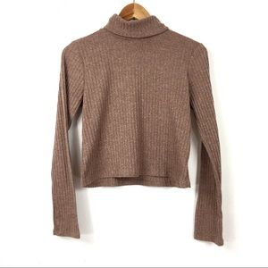 Olivia Rae | Ribbed Turtle Neck Crop Top Sweater